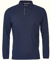 Barbour Herren Polo Poloshirt Gr.M Longsleeve 100% Baumwolle Navy Blau 87528