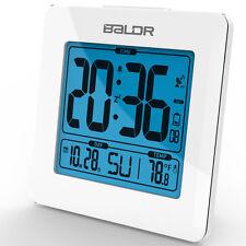 New Brand Blue Backlight Table Snooze Alarm Clock Calendar Temperature Radio USA