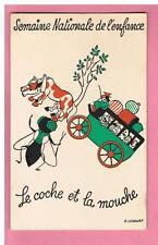 CPSM - F.  LESOURT- COMITE NATIONAL DE L'ENFANCE -  LE COCHE ET LA MOUCHE