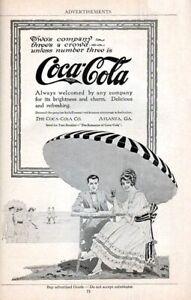 COCA COLA *2X3 FRIDGE MAGNET* COKE REFRESHMENT SODA VINTAGE ANTIQUE ADVERT POP