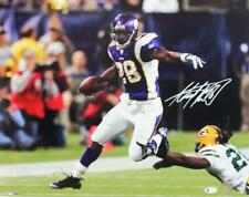 Adrian Peterson Signed Vikings 16x20 Running HM Photo - Beckett W Auth *White