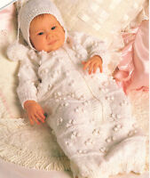 "Baby Bobble Sleeping Bag with Hood 16"" - 18"" ~  DK Knitting Pattern"