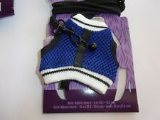 Blue Vest Harness Leash For Small Animals New All Living Things Ferret Rat Mesh