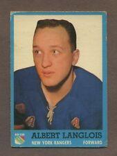 1962-63 Topps Hockey No. 47 Rangers Albert Langlois Vg
