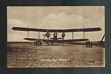 Mint RPPC England Real picture postcard RAF Handley Page 400 Biplane Bomber