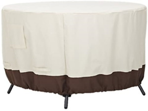 mychoose Round Garden Table Cover 120x120x60 cm Outdoor Furniture Cover 420D and
