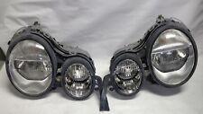 Original SET 96 - 99 Mercedes W210 E-Class E430 E300 E320 Headlight Lamps OEM