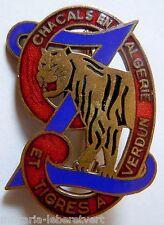 insigne 9° RZ 1939  REGIMENT DE ZOUAVES émail 40 mm Pç Arthus Bertrand ORIGINAL