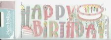 Happy Birthday Cake Candles Pink Girl Party Fun Jolee's Stickers Scrapbook Craft