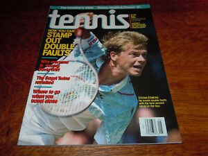 "VINTAGE MAY 1991 "" TENNIS "" MAGAZINE - STEFAN EDBERG COVER - MINT"