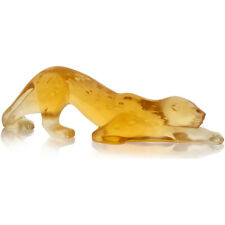 Lalique Zeila Panther Small Sculpture Amber Crystal (10492800)