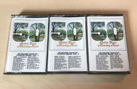 50 GOLDEN YEARS OF COUNTRY MUSIC, VOL.1, 2, 3- CASSETTES - VARIOUS ARTISTS