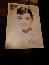 Postcard Of Movie Star Audrey Hepburn Elegance Is