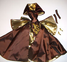 Barbie Fashion Brown/Gold Gown For Barbie Doll fn000