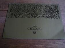 CADILLAC 1969 prestige car brochure-Fleetwood, Eldorado, de ville, Calais