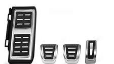 Fußstütze + Pedalkappen Set passend für Golf 7 VII GTI R GTD Edelstahl Schalter