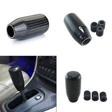 High Quality Real Black Carbon Fiber Sport Manual Car Gear Shift Knob Straight
