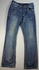 PETROL RELAXED BOOT LIGHT WASH DISTRESSED MENS DENIM JEANS SZ 30/36