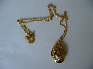 vintage type good quality gold plated stainless steel Necklace locket