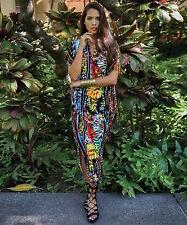 NEW NWT Jams World Casablanca Dress Joy Hawaiian Print Sundress Large Made USA