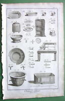 COPPERSMITH Utensils Making - 1763 Copperplate Engraving Print DIDEROT