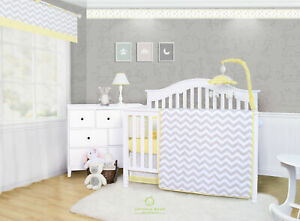 6-Piece Chevron Yellow Baby Boy Girl Nursery Crib Bedding Sets By OptimaBaby