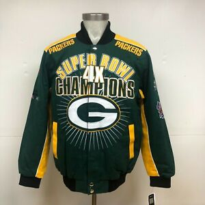 Green Bay Packers 4-Time Superbowl Champions Jacket