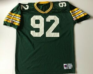 RARE Vintage Authentic Champion Reggie White Green Bay Packers Jersey Size 52