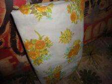 Fieldcrest Floral Goldenrod Roses Aqua Yellow Twin Xl/Twin Flat Sheet 69 X 99