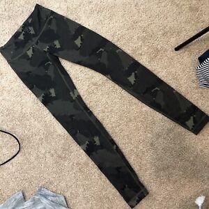 lululemon 4 camo full length pants leggings Green