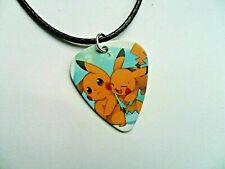 Pokemon PIKACHU   Guitar Pick  //  Plectrum  Leather  Necklace