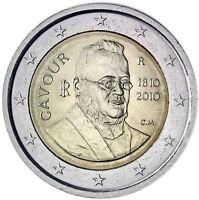 Italien 2 Euro Camillo Benso Graf von Cavour 2010 Gedenkmünze prägefrisch