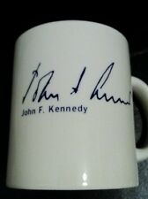 Mug John F. Kennedy  White with Blue writing 1985