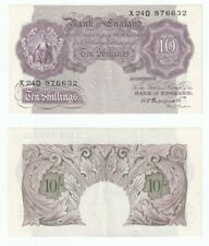 Bank of England 10 Shillings Banknote (1940) WWII issue - EF.