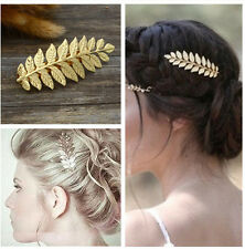 Girl Bridal Prom Laurel Leaf Hair Pin Clip Dress Snap Barrette Hair Accessory