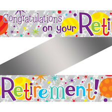 8ft x Congratulations On Your Retirement Foil Banner Party Decoration