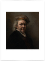 REMBRANDT VAN RIJN SELF PORTRAIT BIG BORDERS LIMITED EDITION ART PRINT 18X24