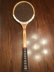 """Dunlop MaxPly Fort Vintage Tennis Racquet - Med 4 3/4"""" Grip - Made In England"""