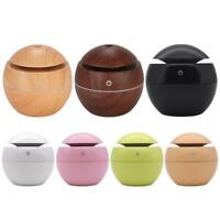 Aroma Essential Oil Diffuser Wood Grain Ultrasonic Aromatherapy Home Humidifier