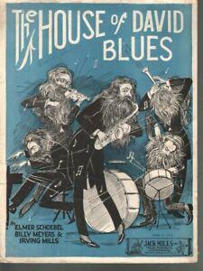 House of David Blues 1923 Sheet Music