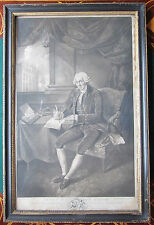 Antique Georgian Engraving of English Philanthropist Jonas Hanway Marine Society