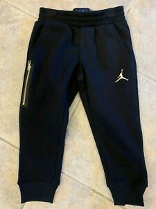 Toddler Nike Jordan Jumpman Fleece Jogger Pants Gym Black Size 3T 755568