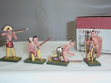FIGARTI JU4102 US WILD WEST AMERICAN INDIAN GUNPOWDER + MUSKETS FIGURE SET