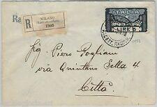 64160 - ITALIA REGNO - STORIA POSTALE : Sass 146 Marcia su Roma  su BUSTA  1923