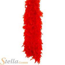 150cm Rojo Boa de plumas años 20 30s Disfraz Despedida De Soltera Accesorio e4c125d178f