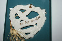 LENOX For My Sweetheart Christmas Doves Heart Ornament Rare Collectible w/ Box