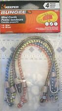 Keeper 10 Inch Mini Bungee Cords (Pack of 4)