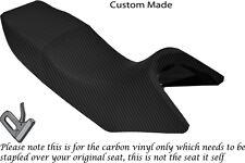 Fibra De Carbono Vinilo Custom Fits Yamaha Tdr 125 Doble cubierta de asiento solamente
