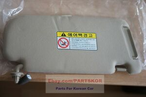 For 2006 ~ 2010  Kia Optima LH Drivers Side Sun Visor Beige J7 Genuine Part OEM