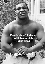 """""""IRON"""" MIKE TYSON - BEAUTIFUL POSTER PRINT WITH QUOTE - LOOKS AWESOME FRAMED"""